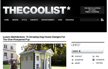 http://www.thecoolist.com/dog-house-designs-10-amazing-examples-of-luxury-canine-casas/