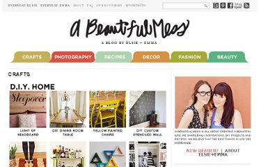 http://abeautifulmess.typepad.com/my_weblog/projects-a-beautiful-mess-diy-index.html