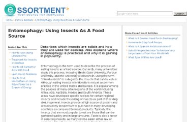 http://www.essortment.com/entomophagy-using-insects-food-source-22027.html