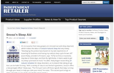 http://independentretailer.com/2011/04/01/snoozn-sleep-aid/