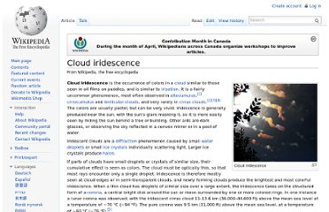 http://en.wikipedia.org/wiki/Cloud_iridescence