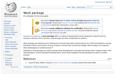 http://en.wikipedia.org/wiki/Work_package