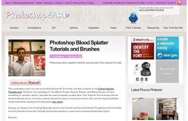 http://photoshopgirl.com/02/25/photoshop-blood-splatter-tutorials-and-brushes/