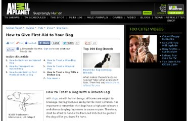 http://animals.howstuffworks.com/pets/how-to-give-first-aid-to-your-dog5.htm