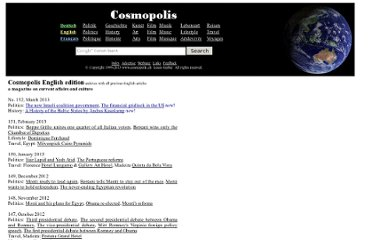 http://www.cosmopolis.ch/english/archives.htm