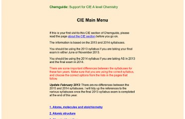 http://www.chemguide.co.uk/CIE/index.html
