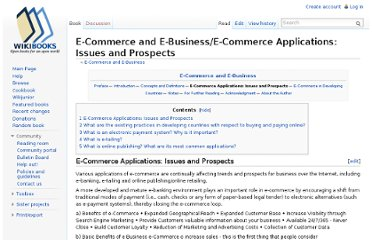 http://en.wikibooks.org/wiki/E-Commerce_and_E-Business/E-Commerce_Applications:_Issues_and_Prospects