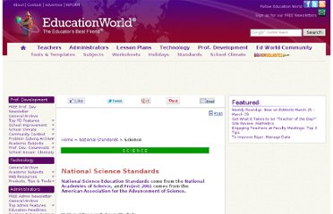 http://www.educationworld.com/standards/national/science/index.shtml