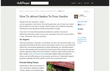 http://kerryg.hubpages.com/hub/How-To-Attract-Snakes-To-your-Garden