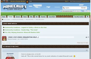 http://www.minecraftforum.net/topic/67401-mod-ayus-mods-requesting-help/