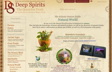 http://www.deepspirits.com/natural-world/