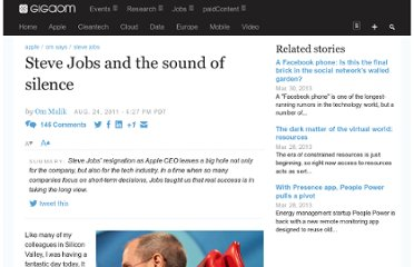 http://gigaom.com/2011/08/24/steve-jobs-the-sound-of-silence/