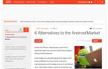 http://thenextweb.com/apps/2011/01/09/6-alternatives-to-the-android-market/
