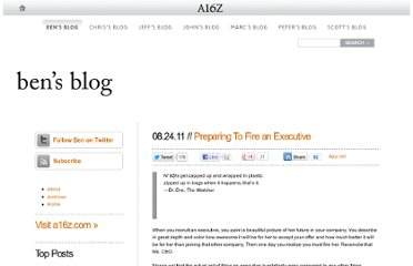 http://bhorowitz.com/2011/08/24/preparing-to-fire-an-executive/