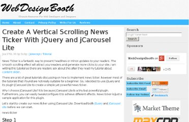 http://www.webdesignbooth.com/create-a-vertical-scrolling-news-ticker-with-jquery-and-jcarousel-lite/