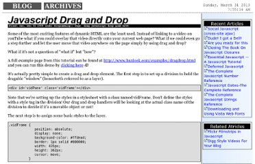 http://www.hunlock.com/blogs/Javascript_Drag_and_Drop