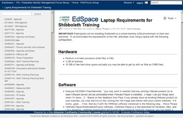 https://edspace.mcnc.org/confluence/display/FIM/Laptop+Requirements+for+Shibboleth+Training