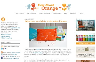 http://howaboutorange.blogspot.com/2011/08/make-your-own-fabric-print-using-sun.html