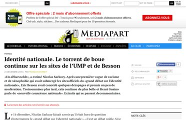 http://www.mediapart.fr/journal/france/231209/identite-nationale-le-torrent-de-boue-continue-sur-les-sites-de-l-ump-et-de-be