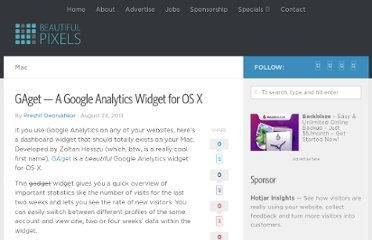 http://beautifulpixels.com/macintosh/gaget-google-analytics-dashboard-widget-os-x/