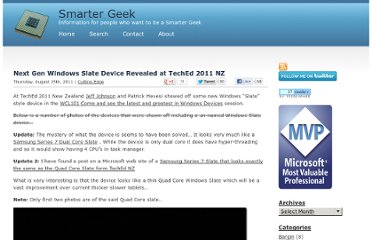 http://www.smartergeek.info/2011/08/next-gen-windows-slate-device-revealed-at-teched-2011-nz/