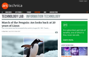 http://arstechnica.com/open-source/news/2011/08/march-of-the-penguin-ars-looks-back-at-20-years-of-linux.ars