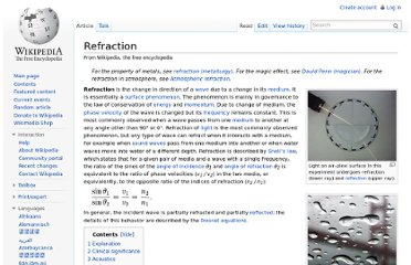 http://en.wikipedia.org/wiki/Refraction