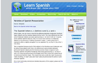 http://www.braser.com/spanish-learning/spanish-pronunciation.html