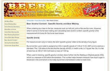 http://www.beverageanswers.com/beer/beer-alcohol-content.html