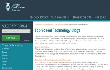 http://www.teachercertificationdegrees.com/top-blogs/school-technology/