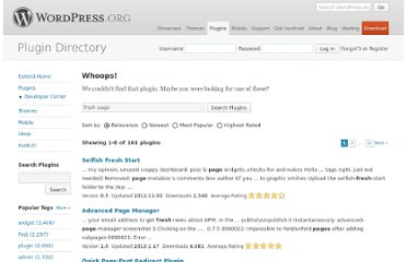http://wordpress.org/extend/plugins/fresh-page/