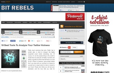 http://www.bitrebels.com/social/18-best-tools-to-analyze-your-twitter-hotness/