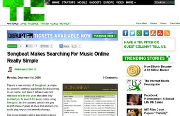 http://techcrunch.com/2008/12/01/songbeat-makes-searching-for-music-online-really-simple/