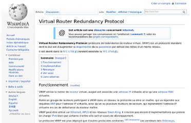 http://fr.wikipedia.org/wiki/Virtual_Router_Redundancy_Protocol