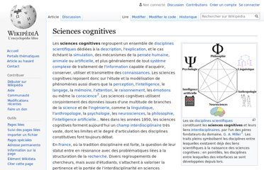 http://fr.wikipedia.org/wiki/Sciences_cognitives