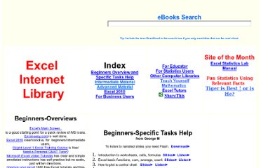 http://www.businessbookmall.com/Microsoft_Excel_Directions_For_Beginners.htm