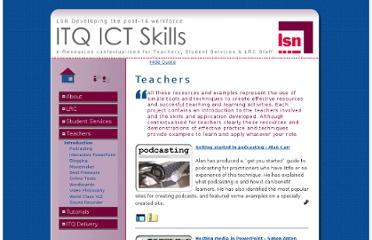 http://www.learningtechnologies.ac.uk/itq/teachers/index.htm