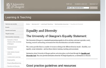 http://www.gla.ac.uk/services/learningteaching/goodpracticeresources/equalityanddiversity/