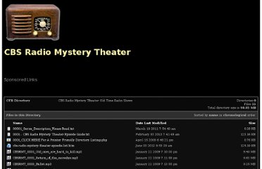 http://www.mysteryshows.com/CBS-Radio-Mystery-Theater/index.php