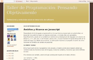 http://pensamientoobjetivo.blogspot.com/2009/09/ambitos-y-alcance-en-javascript.html