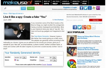 http://www.makeuseof.com/tag/live-it-like-a-spy-create-a-fake-you/