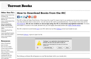 http://torrent-books.com/how-to/how-download-books-irc/