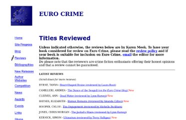 http://www.eurocrime.co.uk/review_list.html