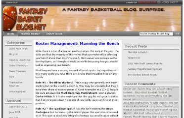 http://www.fantasybasketblog.net/2006/11/22/roster-management-manning-the-bench/