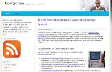 http://www.mastersincomputerscience.net/top-50-free-open-source-classes-on-computer-science.html