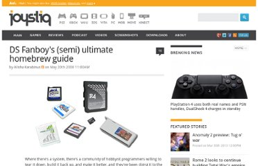 http://www.joystiq.com/2008/05/20/ds-fanboys-semi-ultimate-homebrew-guide/