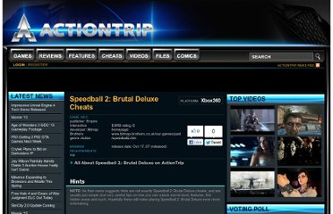 http://www.actiontrip.com/cheats/360/speedball-2-brutal-deluxe.phtml