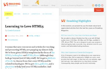 http://coding.smashingmagazine.com/2010/11/10/learning-to-love-html5/