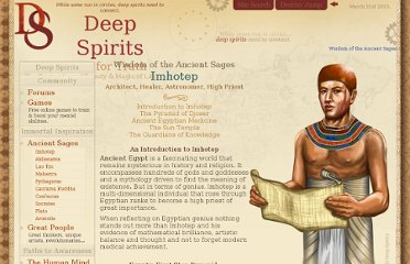http://www.deepspirits.com/ancient-sages/imhotep/