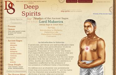 http://www.deepspirits.com/ancient-sages/mahavira/